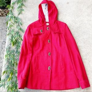 Forever 21 Toggle Closure Hooded Coat